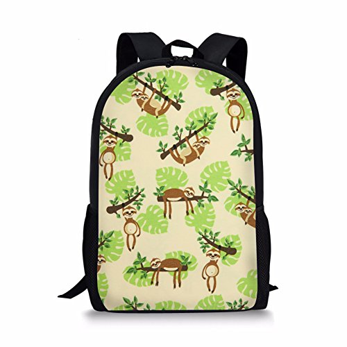 UNICEU Funny Sloth Life Elementary School Kids Backpack Book Travel Bag