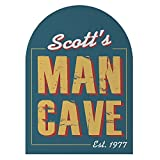 GiftsForYouNow Rustic Man Cave Personalized Sign