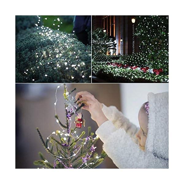 Stringa Luci Led,[2 Pack]Catene Luminose 10 metri 100LEDs Stringa Luci LED Impermeabile IP65 per Uso Interno ed Esterno per Decorazioni Festive e Natale (bianca) 5 spesavip