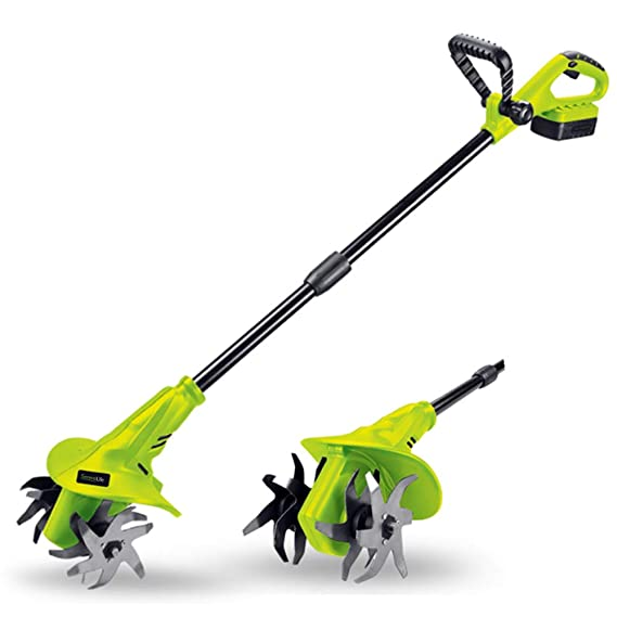 Incroyable 18V Handheld Electric Cordless Tiller   Battery Powered Hand Held Front  Tine Soil Cultivator, High