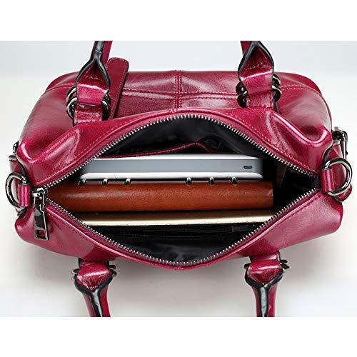 handle Per Work Esclusivo Black Pelle In Ajesty Slot Le Donne Tendenza Travel Design Con Handbags Schede Top Sport Ultima School Tote Igwqgax78