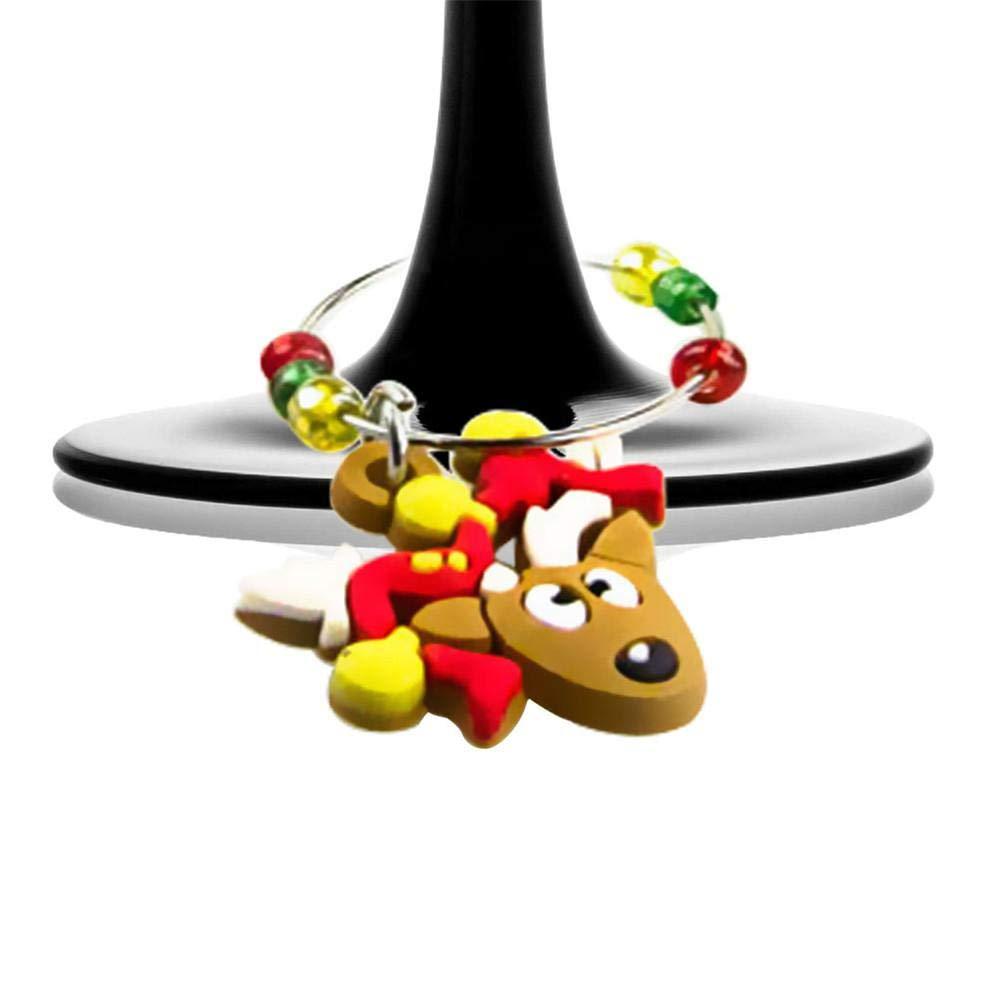 12 Stücke Gemischt Weihnachten Weinglas Ring Weihnachten Familie ...