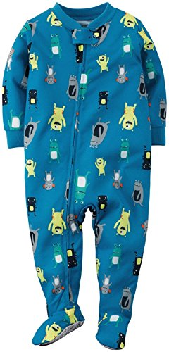 Carter's Little Boys' Print Footie (Toddler) - Monsters - 4T by Carter's (Image #1)