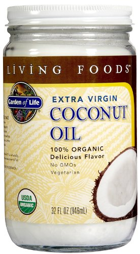 Garden of Life Organic Unrefined Extra Virgin Coconut Oil - Healthy Vegan Cooking Oil, 32oz Liquid