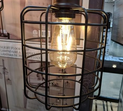 StyleCraft Piper Floor lamp, w/3 Edison Bulbs