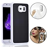 Bonice Anti-Gravity Selfie Case for Samsung Galaxy S7, Magical Nano Sticky Hands Free Stick to Glass, Tile, Car GPS, Most Smooth Surface - White & Black