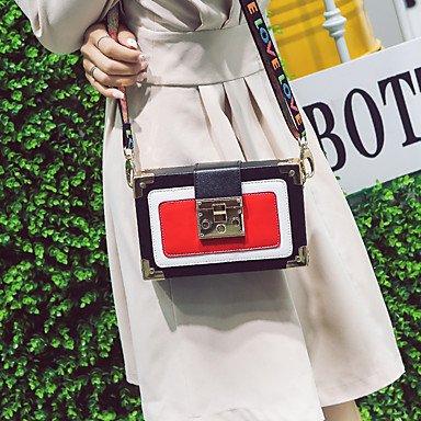SUNNY KEY-Borsa a tracolla @ Donna Borsa a tracolla PU (Poliuretano) Per tutte le stagioni Casual Con fermaglio Nero Rosso , black red