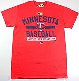 Minnesota Twins MLB Men's Team Property Cooperstown T-shirt Red (Medium)