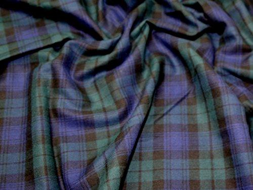 - Minerva Crafts Tartan Brushed Cotton Dress Fabric Blackwatch - per metre