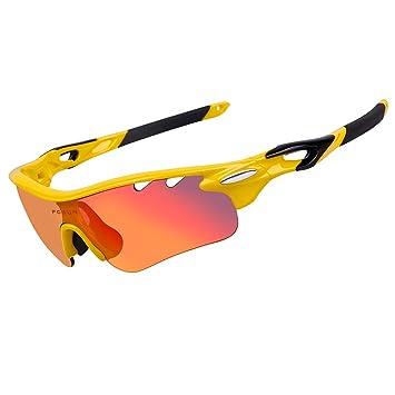 Playbook carretera montaña ciclismo gafas gafas gafas polarizadas ciclismo bicicleta gafas de sol Oculos Gafas Ciclismo 3 lentes (amarillo): Amazon.es: ...