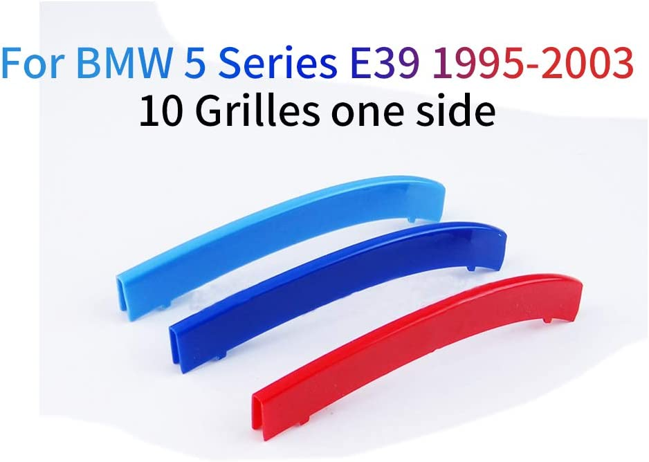 carado Front Grille Grill Cover for BMW 5 Series F10 F18 2014-2015 520i 528i 535i 550i xDrive M Color Insert Trim Clips 3Pcs 10 Grilles