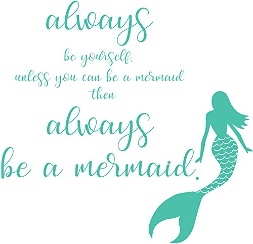Cheap  Wall Pops DWPQ2384 Always Be A Mermaid Wall Quote