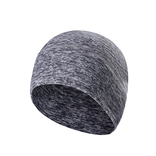 Skull Cap Running Beanie - Head Wrap Winter Thermal Bandanas Cycling Hat (Gray) (Cap Skull Wrap)