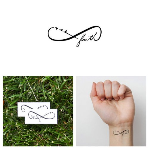 Tattify Faith Temporary Tattoo - Leap (Set of 2) - Other Styles Available - Fashionable Temporary Tattoos - Long Lasting and Waterproof]()