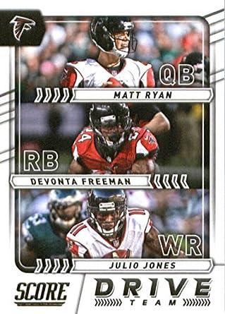 Amazon.com  2017 Score Drive Team  2 Devonta Freeman Julio Jones Matt Ryan Atlanta  Falcons Football Card  Collectibles   Fine Art a28de7332
