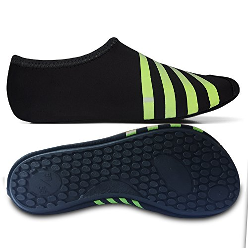 L-RUN Unisex Wasser Schuhe Barfuß Haut Schuhe für Dive Surf Swim Beach Yoga Schwarz