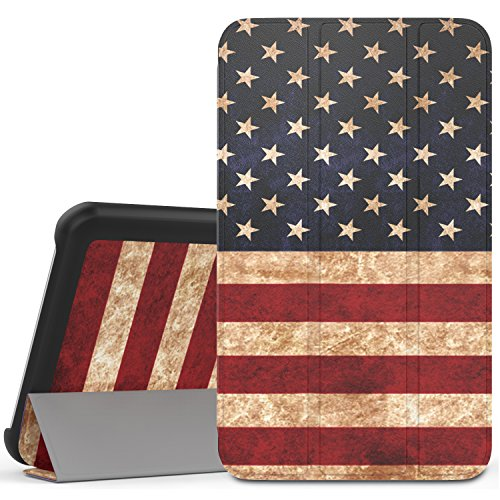 MoKo Samsung Galaxy Tab A 7.0 Case - Ultra Lightweight Slim-Shell Stand Cover Case for Samsung Galaxy Tab A 7.0 Inch Tablet 2016 Release(SM-T280 / SM-T285 Version ONLY), US Flag