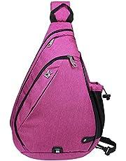 EGOGO Multi-Functional Sling Pack Backpack Cross Body Pack Shoulder Sling Bag Hiking Dackpack One Should Strap for Men and Women E300-4 (Blue)