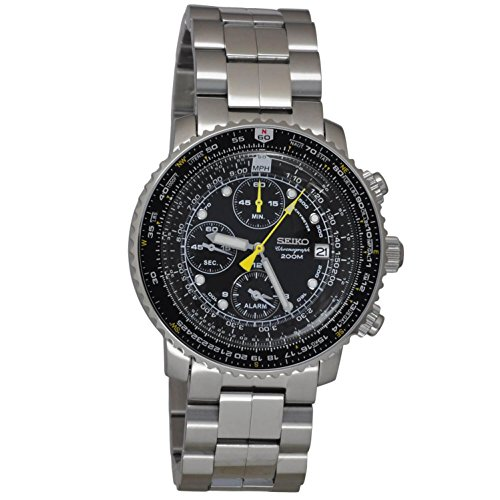 SEIKO SNA411P1 Men's Pilot Watch Alarm Chronograph 100m WR SNA411