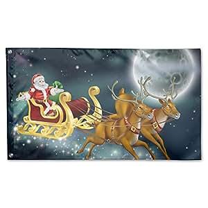 Bandera de feliz Navidad Deluxe, 3x 5', multicolor.