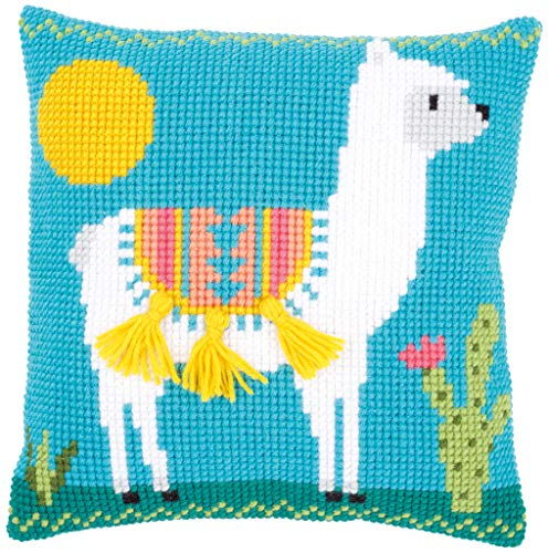 Vervaco Llama Pillow Cover Needlepoint Kit - Needlepoint Accent Pillow
