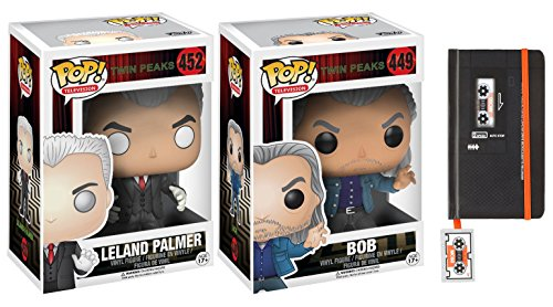 Twin Peaks Funko Pop! Television Series Leland Palmer #452 & Bob #449 with Microcassette Mini Journal 3-piece Bundle Leland Series
