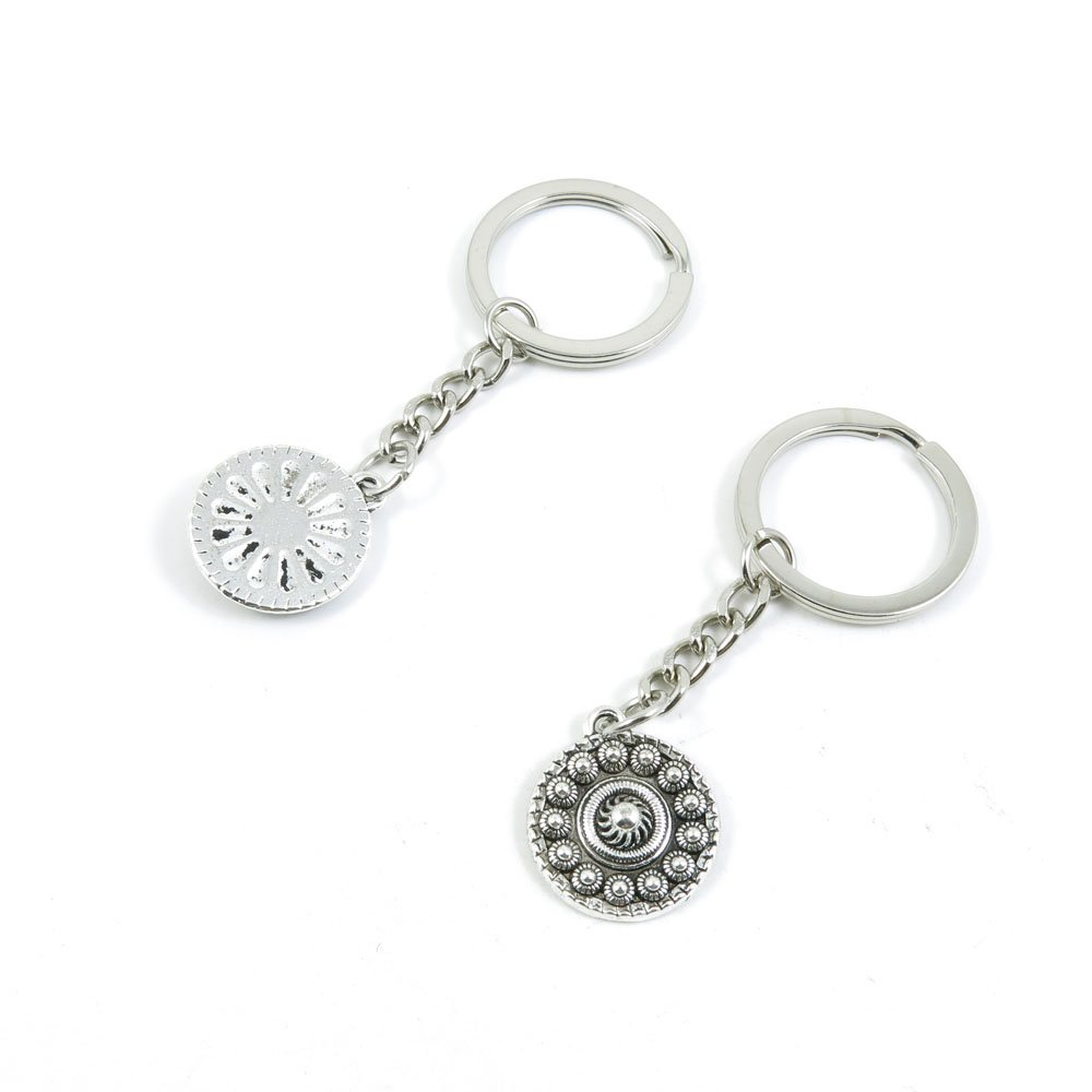 100 Pieces Keychain Door Car Key Chain Tags Keyring Ring Chain Keychain Supplies Antique Silver Tone Wholesale Bulk Lots J5SH0 Sun Relief