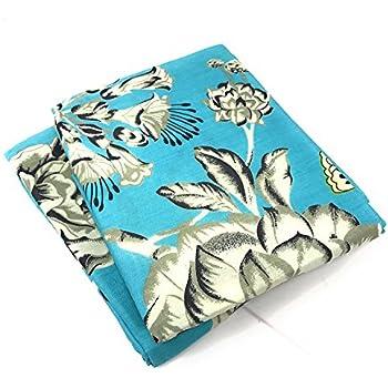Amazon Com Tache White Floral Colorful Aqua Pillowcase