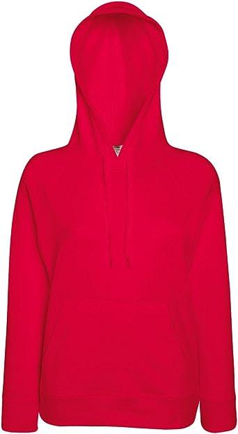 Fruit of the Loom Ladies Fitted Hooded Sweatshirt
