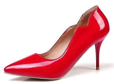 Easemax Damen Sexy High Heels Stiletto Pointed Toe Low Cut Ohne Verschluss Pumps