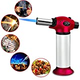 Buluri Blow Torch, Butane Torch, Culinary Butane Torch, Windproof Culinary Torch, Refillable Flame Gun With Safety Lock & Adjustable Flame for Hiking, Camping, Cooking, Kitchen, Creme Brulee, BBQ