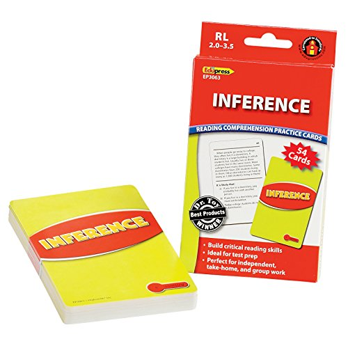 Edupress Reading Comprehension Practice Cards, Inference, Red Level (EP63063)