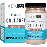 Chocolate Collagen Keto Protein Powder - High Quality Multi Collagen Keto Powder with MCT Oil Powder - Keto Collagen Protein Powder - Keto Chocolate Shake - Paleo & Gluten Free - Glass Bottle