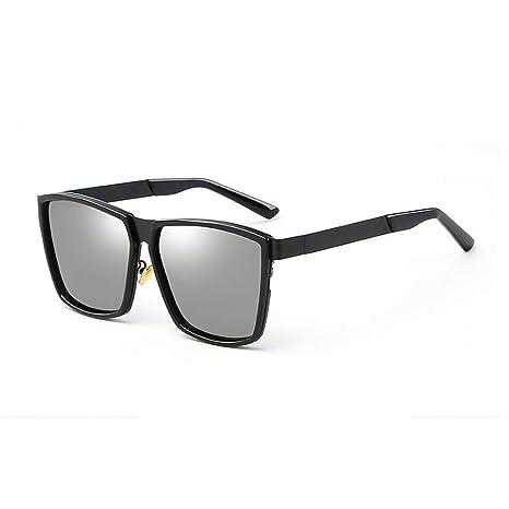 Xi Qu Gafas de Sol polarizadas Brillantes Aluminio y magnesio para Hombres Gafas de Sol de