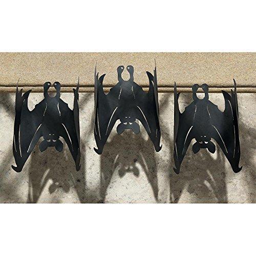 Design Toscano Dark Side Metal Vampire Bats: Set of 3