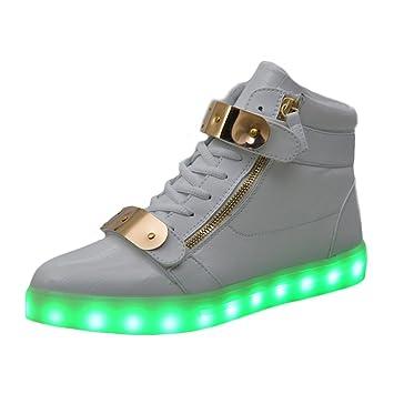 Men Shoes Led Luminous Shoes For Men Fashion Light Up Casual 7 Colors Usb Charge Led Shoes White Footwear Sneakers Zapatos Men's Casual Shoes Men's Shoes