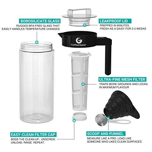 Coffee Maker Homekit : Coffee Gator Cold-Brew Coffee Maker Kit with Scoop and Funnel Home Garden Kitchen Dining Kitchen ...