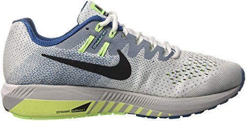 Nike Air Zoom Structure 20, Scarpe da Corsa Uomo Bianco (White/Black/Industrial Blue/Ghost Green)
