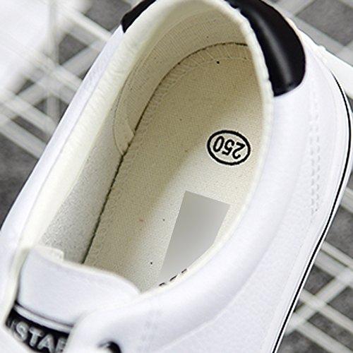 uomo basse Color YaNanHome di paio Espadrillas Scarpe Bianca scarpe Nuove nero da stile scarpe Size casual tela basso 43 scarpe coreano Bianca stile taglio maschile sportive 5A5I1rq0