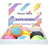 Bath Oil Beads,Isner Mile Bath Booms Kit 9 Pack Bath Bomb Gift Set Organic Coconut Oil & Aromatherapy Essential Oils Luxury Gift for Valentine, Women, Mom, Teen Girl, Birthdays