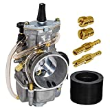SaferCCTV OKO PWK Carburetor Carb with Jet for Motorcycle Scooters Dirt Bike ATV (Yamaha Honda Suzuki Kawasaki GASGAS BSA BULTACO 2 Stroke /2 Cycle Bikes (80cc 100cc 125cc 250cc 300cc 350cc)