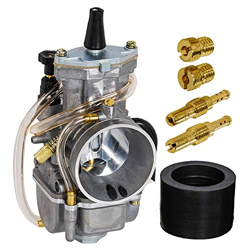 SaferCCTV OKO PWK Carburetor Carb with Jet for Motorcycle Scooters Dirt Bike ATV (Yamaha Honda Suzuki Kawasaki GASGAS BSA BULTACO 2 Stroke /2 Cycle Bikes (80cc 100cc 125cc 250cc 300cc ()