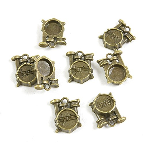 10 Pieces Bijou Schmuckteile Jewelry Making Supply Charms Findings Bronze Tone I1HC3 Drum Set