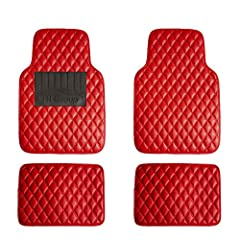 This floor mat takes universal mats up a level. Its luxurious faux leather material and diamond shape design give your car a classy look and at the same time protect your interior in any weather nature brings!
