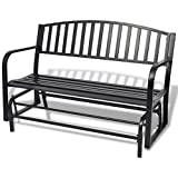 Cheap UBAYMAX Black Premium Steel Patio Chair Hanging Porch Swing Bench Seat Outdoor Park Yard Furniture Weather Resistant Rocking Chairs,for Two Person,Black