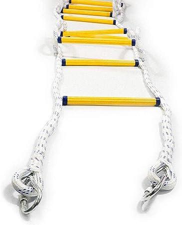 Sucastle Escalera de Incendio Escalera con mosquetón de Emergencia portátil Escape Escalera de Seguridad de Auto-Rescate de la Escalada por Niños Adultos fácil de desplegar Seguridad Escape Escalera: Amazon.es: Hogar