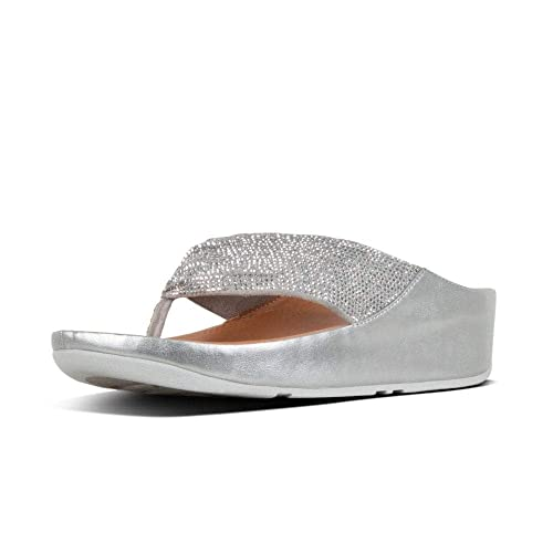 5165d431d Fitflop TwissTM Crystal Toe-Post Sandals in Silver  Amazon.co.uk ...