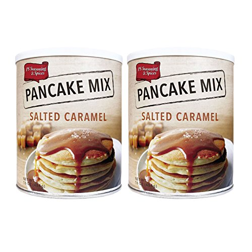 PS Seasoning & Spices Pancake & Waffle Mix, 16 oz (2 Pack) (Salted Caramel)