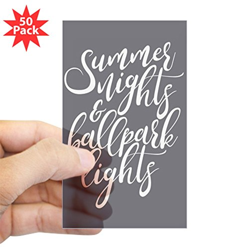 CafePress - Summer Nights And Ballpa - Sticker (Rectangle 50 pk) by CafePress