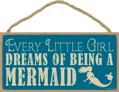(SJT94386) Every little girl dreams of being a mermaid 5